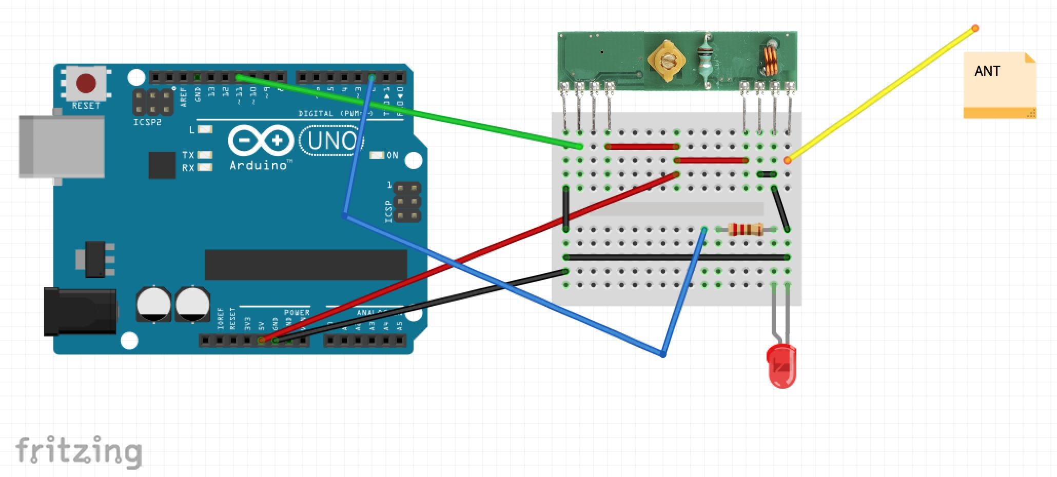 Aaron Ardiri - IoT Blog: RF 433Mhz radio communication with an Arduino